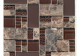 Glass & Stone Mix Brown